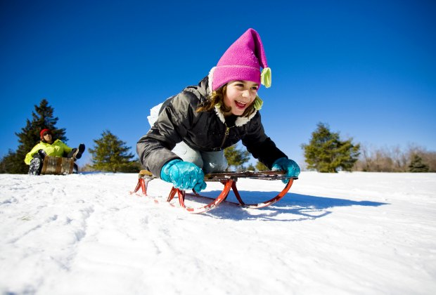 Boston has some prime sledding spots. Photo by Lynne Graves courtesy of Massachusetts Office of Travel & Tourism