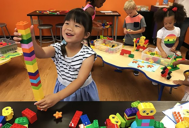 Kids can pop in to Snapology to play with a long list of STEM toys. Photo courtesy of Snapology