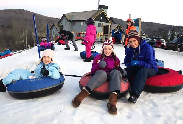 Hit the slopes with an inflatable at the Killington Tubing Park. Photo by Larisa Sharipova