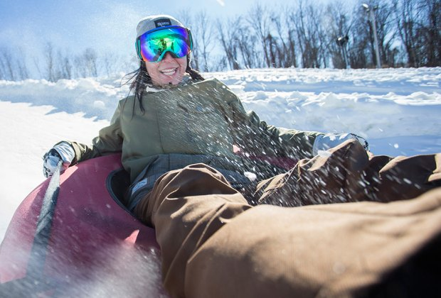 Catch a thrill on the snow tubing hills at Mountain Creek. Photo courtesy of Moutain Creek