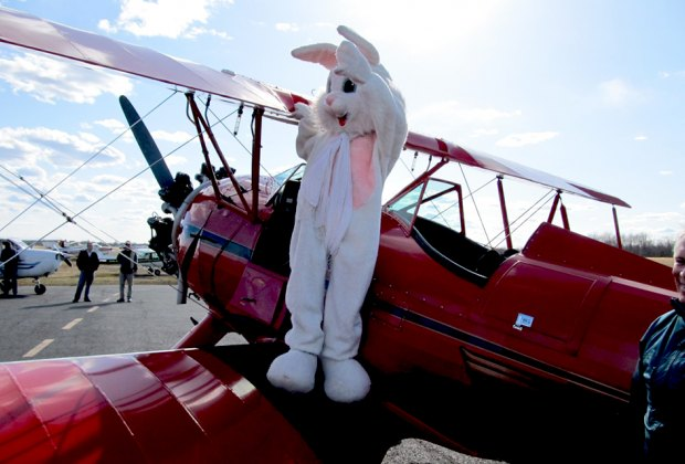 The Easter Bunny flies into New Jersey on Saturday. Photo courtesy of Solberg Airport