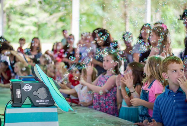Who doesn't love bubbles on a Wacky Wednesday? Photo courtesy of The South Shore Conservancy