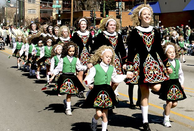 South Side's St. Patrick's Day Parade brings out thousands of people for dancers, bands, and 119 floats. Photo by Kate Gardiner via Flickr