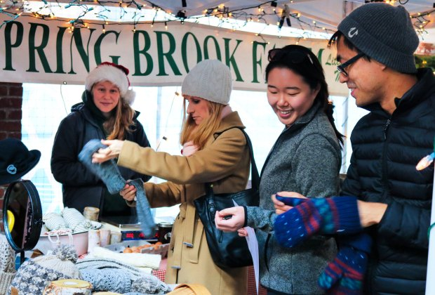 Shoppers hunt for interesting gifts at the SoWa Winter Festival. Photo courtesy of SoWa Boston
