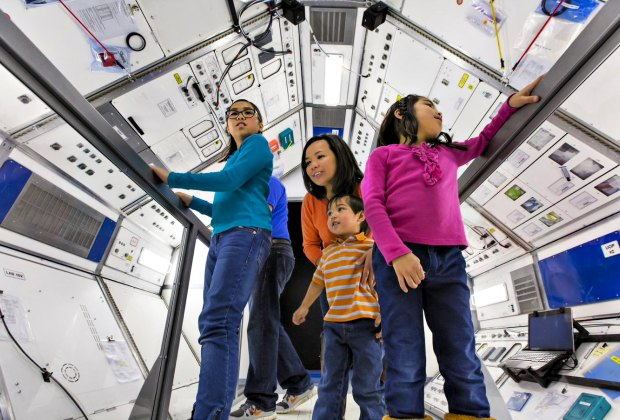 Experience the sights, sounds, and smells on board the International Space station, and try your hand at some of the feats of engineering that support astronauts as they navigate the unforgiving vacuum of space. Photo courtesy of Museum of Science