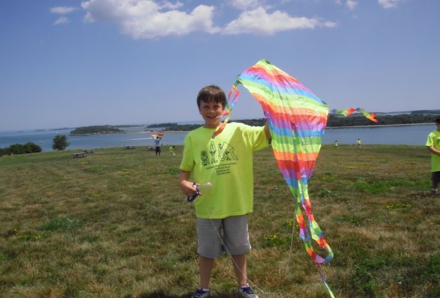 Let's go fly a kite—on Spectacle Island! Photo courtesy of Save the Harbor/Facebook