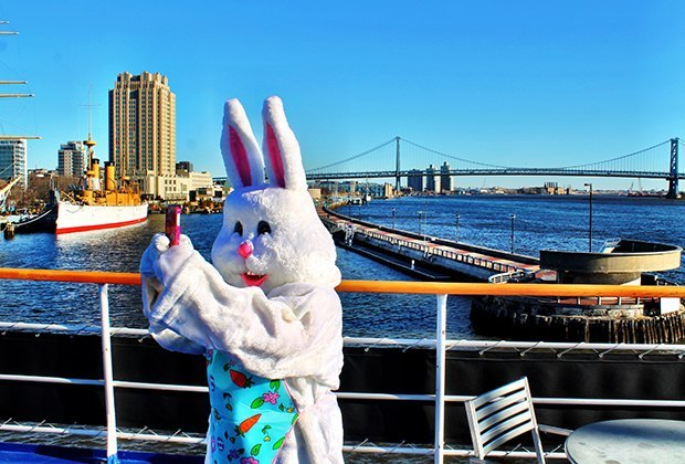Meet the Easter Bunny and take in the views of NYC on Spirit Cruise's Brunch with the Easter Bunny. Photo courtesy of  the cruise line
