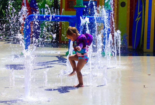 Enjoy the tot-friendly water features at SplashDown Beach. Photo courtesy the park
