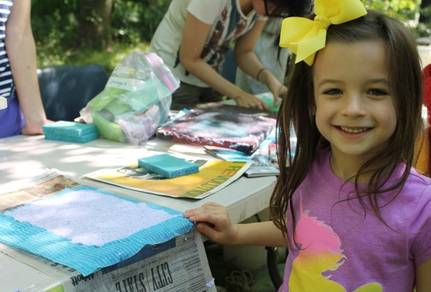 Try your hand at fun activities like paper making at this year's Spring Fling./Photo courtesy of Nature Discovery Center.