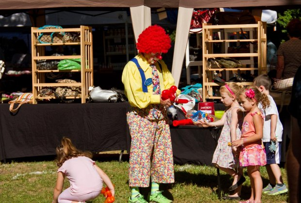 Clowning around all weekend  at St Peter's Annual Apple Festival. Photo courtesy of the festival