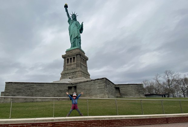 Bundle up for a winter visit to the Statue of Liberty