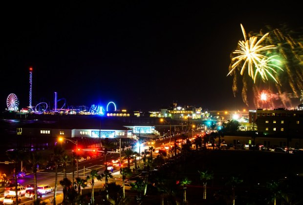 Prolong the weekend fun with a Sunday evening fireworks display over the Gulf./Photo courtesy of Galveston Island Convention & Visitors Bureau.