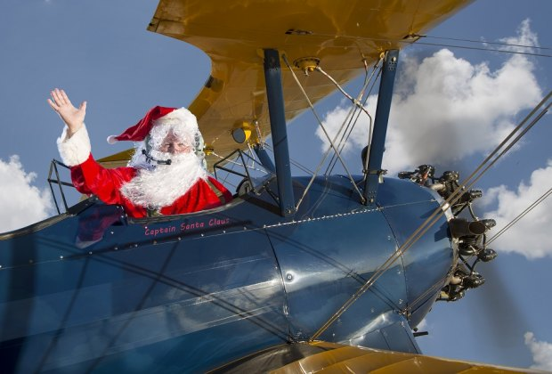 Santa's flying in for one last Saturday; catch him when he lands!/Photo courtesy of Lone Star Flight Museum.