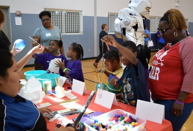 Explore the world of STEM at this STEM Community Day Festival./Photo courtesy of Carlos Aguilar and Brittani Broussard.