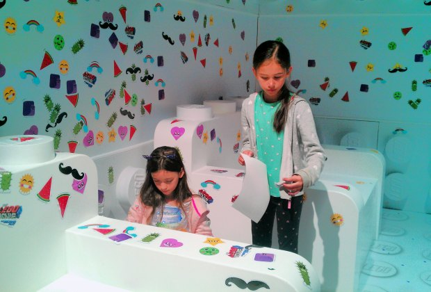 Get stuck in the Sticker Room at Lego Space Hollywood. Photo by Mommy Poppins