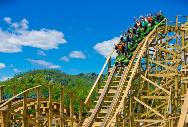 The RoarOSaurus is Story Land's newest coaster. Photo courtesy of the park
