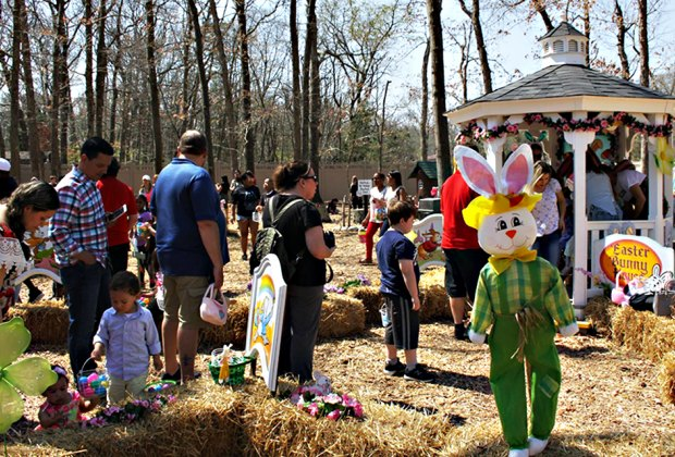 Hunt for eggs at Storybook Land on Saturday and Sunday. Photo courtesy of Storybook Land