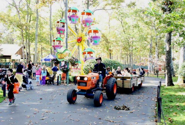 Enjoy rides, trick-or-treating, and more Halloween fun at Storybook Land. Photo courtesy of Storybook Land