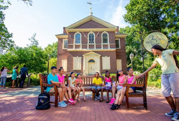 Photo of Storytelling Benches courtesy of J. Fusco for Visit Philadelphia