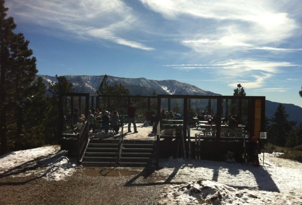Lunch at the top of the All Mountain Express lift has shorter lines and longer views.