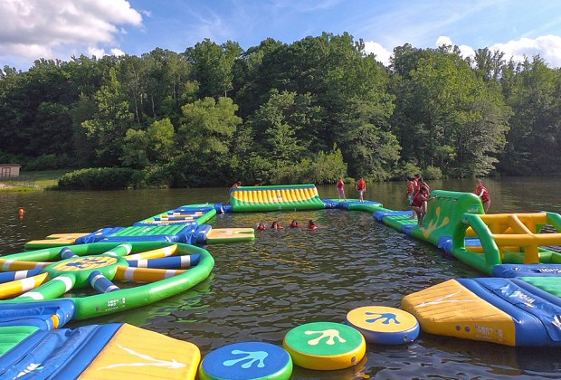 Captain Michael Kilroy Memorial Park inflatable water park