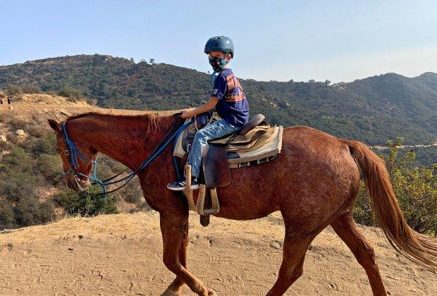 Sunset Ranch horseback riding Los Angeles views outdoor