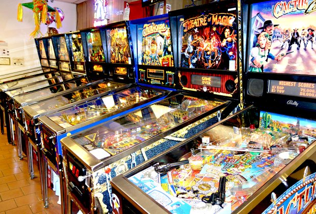 Kill two birds with one stone at Sunshine Laundromat and Pinball. Photo courtesy of Sunshine Laundromat and Pinball