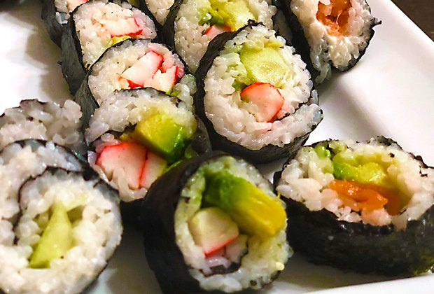 Instant Pot rice makes this sushi a snap to make