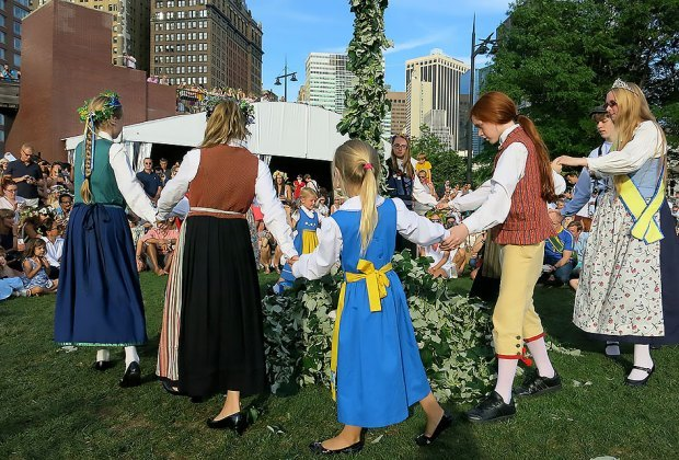 Celebrate the solstice at the Swedish Midsummer Festival in Battery Park. Photo courtesy of the event