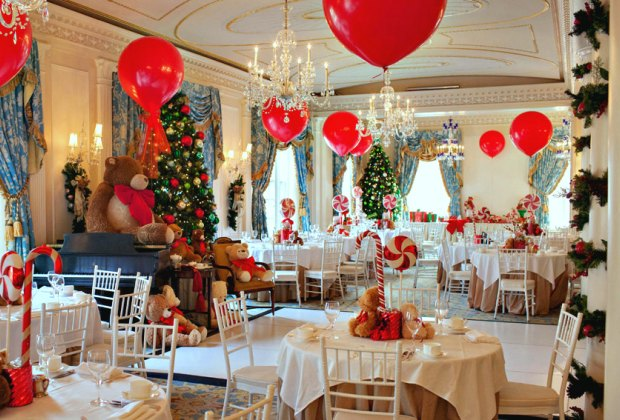 The tables are set for Teddy Bear Tea at the Taj Boston. Photo courtesy of Taj Boston