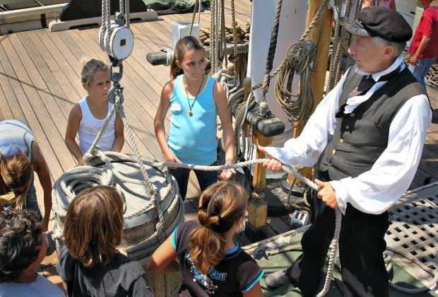 Learn the ropes onboard a tall ship. Photo by Jim Graves for the Ocean Institute
