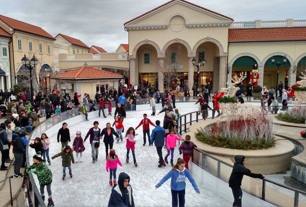 The rink at Tanger Outlet at the Arches is a mid-Island destination for skaters, and shoppers.