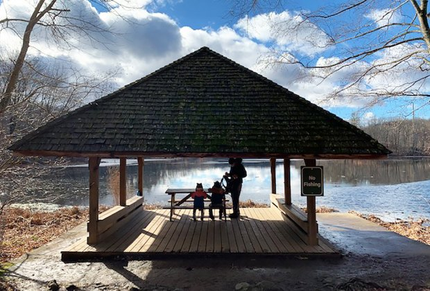 Teatown kids having a snack near the water Westchester Open Now