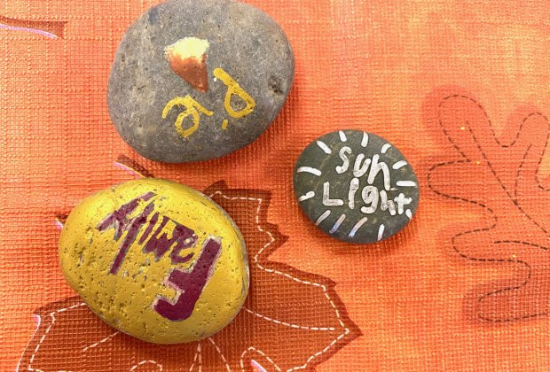 Kindness rocks Thanksgiving craft