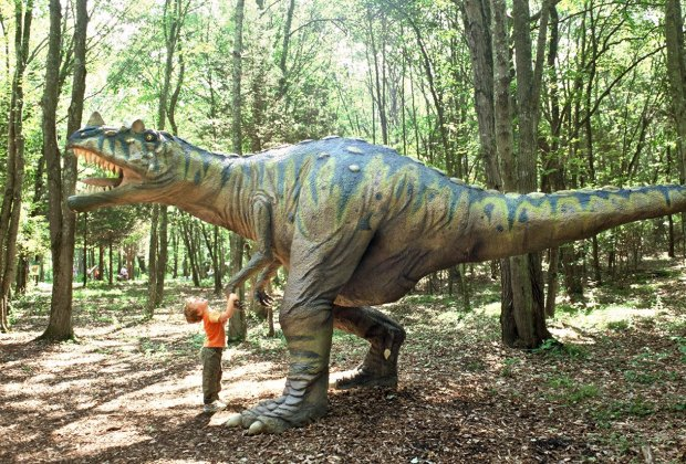 Get up close to a dinosaur! Photo courtesy of The Dinosaur Place