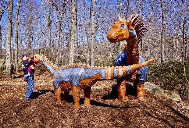 """Come face to face with the """"dinos"""" at The Dinosaur Place at Nature's Art Village in Connecticut. Photo by Fifer Janis via Flickr"""