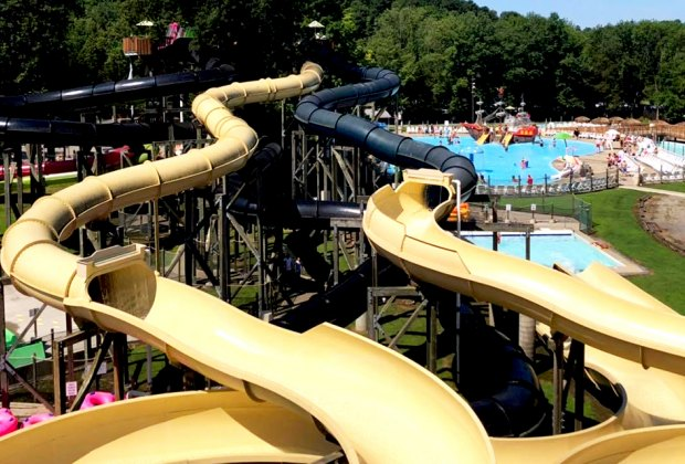 Wide shot of the land of make believe waterpark