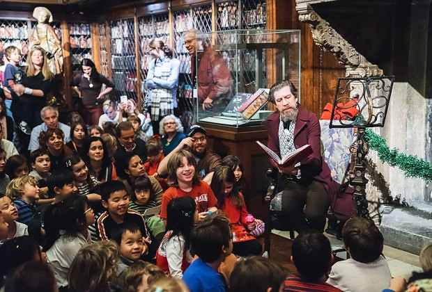 Enjoy old-fashioned holiday fun at the Winter Family Fair at the Morgan Museum and Library in NYC. Photo courtesy of the library
