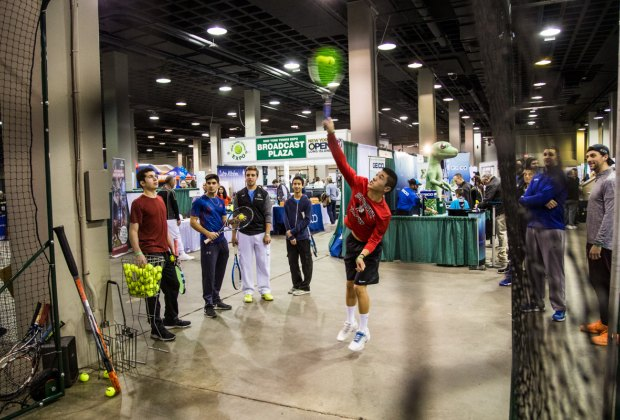 The New York Tennis Expo is grand-slam fun for the entire family. Photo courtesy of the New York Open