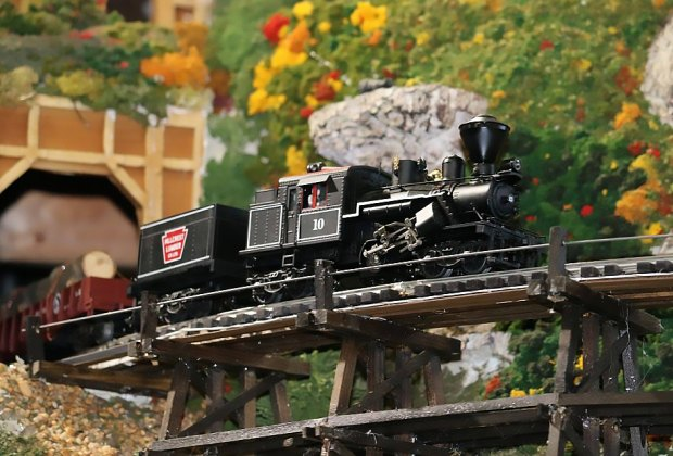 The TMB Model Train Club hosts open houses this month for kids of ages. Photo courtesy of the train club