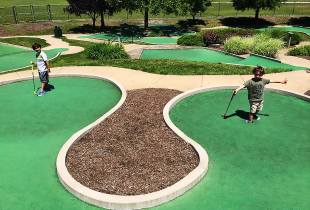 Enjoy a pair of  mini-golf courses at Eisenhower Park in Nassau County. Photo by the author