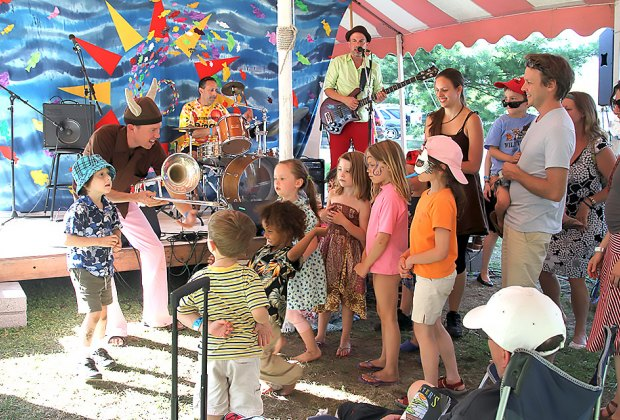 There's no shortage of family-friendly music at Clearwater's Great Hudson River Revival. Photo courtesy of Jim, the photographer