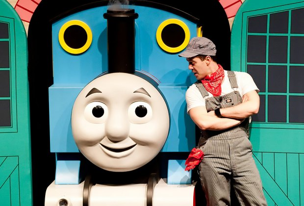 Bring the family for a mini-performance with Thomas the Train and Friends at NYBG. Photo courtesy of NYBG