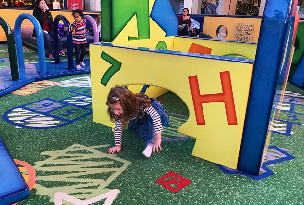 Tot Land at the Paramus Mall provides a fun break from shopping. Photo by Rose Gordon Sala