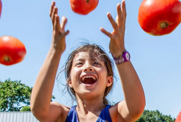 The Edible Academy at the NYBG celebrates all things tomato (juggling not required!). Photo courtesy of Edible Academy
