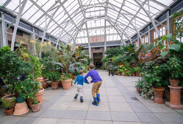 Balmy temps and spectacular flora invite exploration. Photo courtesy of Tower Hill Botanic Garden