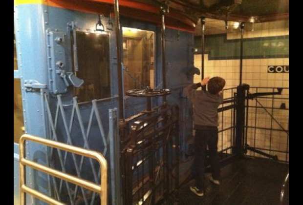 There are more than 20 vintage subway and elevated train cars to explore