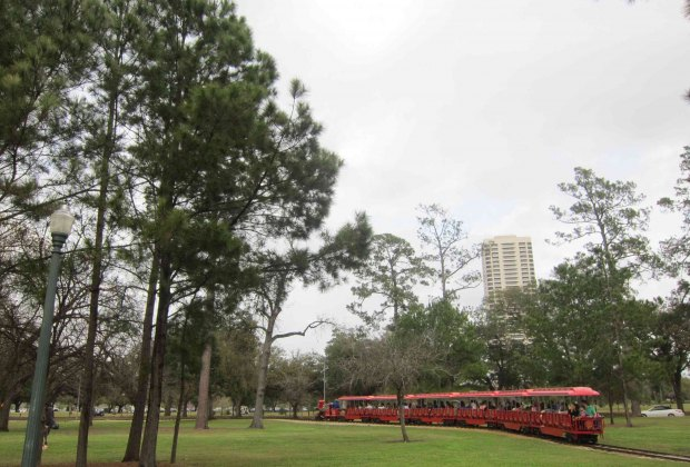 The train in Hermann Park