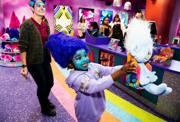 Get a Trolls makeover and make a new friend at the new pop-up Trolls: The Experience. Photo courtesy of Dreamworks