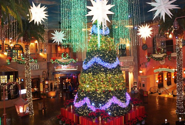 Holiday Musical Light Show is free at the Tropicana in Atlantic City. Photo courtesy of the Tropicana